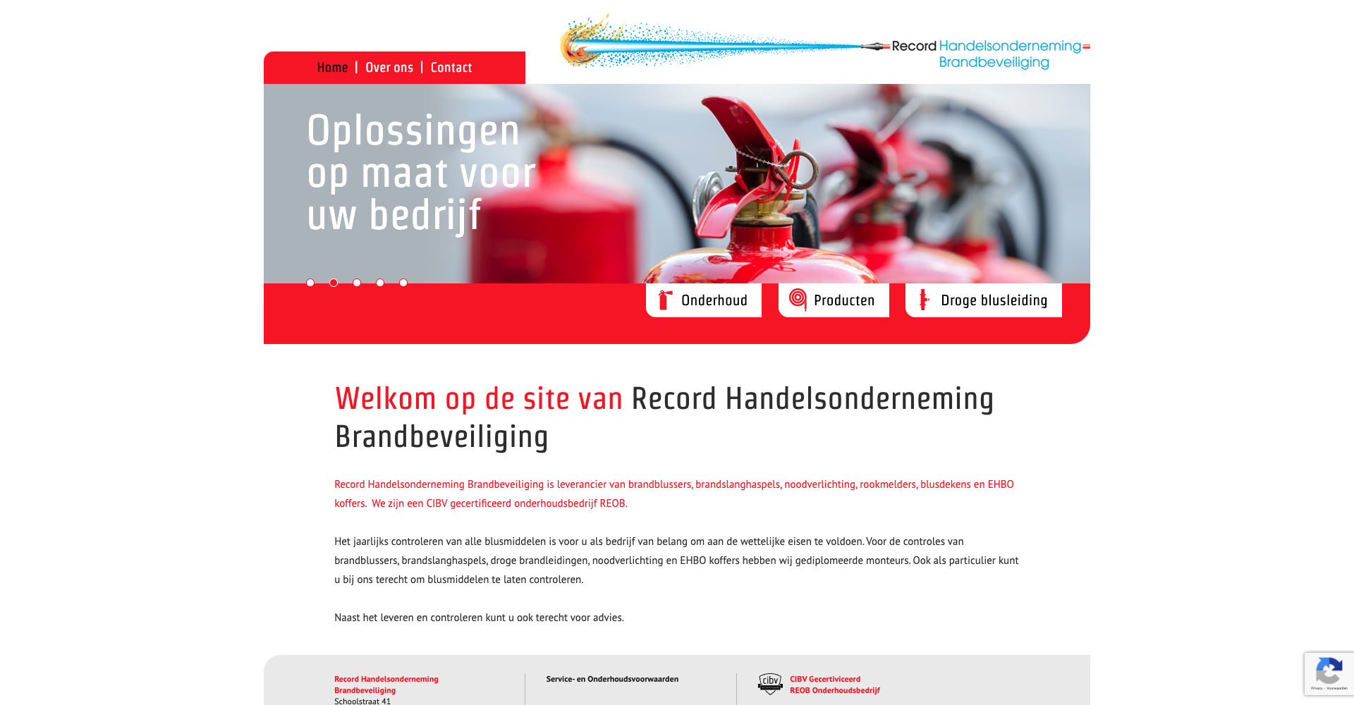 Record Handelsonderneming Brandbeveiliging